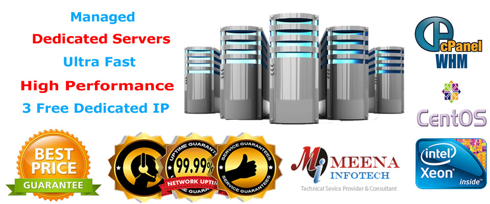 Dedicated Server Hosting - With High Performance - 3 Free Dedicated IP - Managed Dedicated Servers